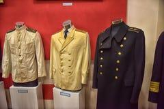 Oude mariene uniformen Stock Foto