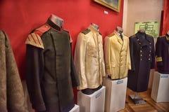 Oude mariene uniformen Stock Afbeeldingen