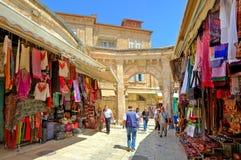 Oude markt in Jeruzalem, Israël. Royalty-vrije Stock Afbeeldingen
