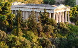 Oude marmeren tempel in Athene Stock Afbeeldingen