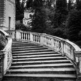 Oude marmeren trap Stock Foto's