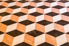 Oude marmeren vloer Stock Foto