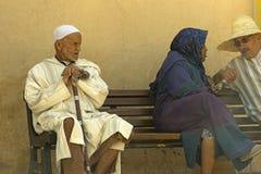 Oude Marokkaanse mens in Marrakech, Marokko stock afbeelding