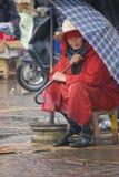 Oude Marokkaanse vrouw Royalty-vrije Stock Foto's