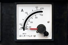 Oude maten voor elektriciteit met hoogste indicator stock fotografie