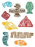 Oude maya monsters Stock Foto's