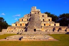 Oude maya stad van Edzna I Stock Fotografie
