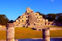 Oude maya stad van Edzna V Royalty-vrije Stock Afbeeldingen