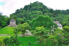 Oude Maya van Palenque Ruïnes, Mexico Stock Foto
