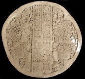 Oude Mayan gravure Royalty-vrije Stock Afbeelding