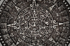 Oude Mayan Kalender Royalty-vrije Stock Foto's