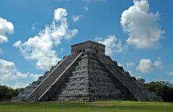 Oude Mayan Piramide Royalty-vrije Stock Afbeeldingen