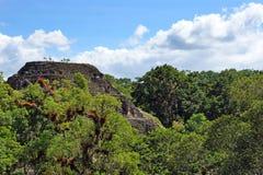 Oude Mayan piramide stock afbeelding