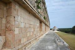 Oude Mayan plaats Uxmal, Mexico Royalty-vrije Stock Afbeeldingen