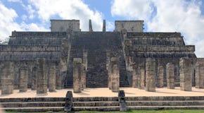 Oude Mayan ruïneert dichtbij de oceaan in Chichenitza Mexico Royalty-vrije Stock Afbeelding