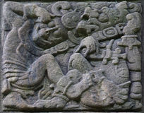 Oude Mayan steenhulp Stock Afbeelding