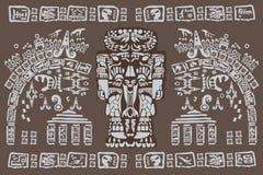 Oude Mayan symbolen Stock Afbeeldingen