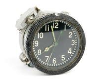 Oude mechanische klok in de lucht stock fotografie