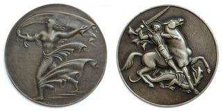 Oude medaillons Royalty-vrije Stock Afbeeldingen