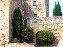 Oude mediterrane villa Stock Afbeeldingen