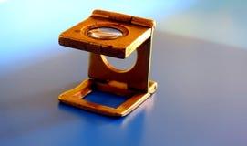 Oude meer magnifier Diamant Stock Foto's