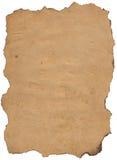 Oude meer papier met gebrande rand. Stock Foto