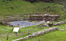 Oude Megalopolis in Arkadia, Griekenland Royalty-vrije Stock Foto