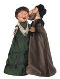 Oude Mens in de Vrouw van de Kussen van de bonthoed Royalty-vrije Stock Foto
