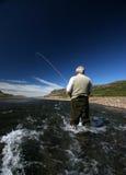 Oude mens en de rivier Royalty-vrije Stock Afbeelding