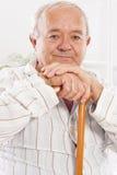 Oude mens in het ziekenhuis Royalty-vrije Stock Fotografie