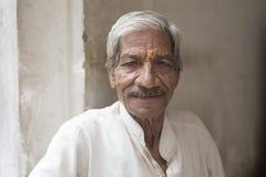 Oude Mens in Jaiupur, Rajasthan Stock Fotografie