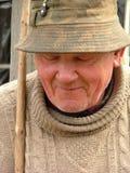 Oude mens met een hoed Stock Afbeelding