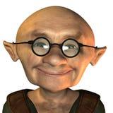 Oude mens met glazen Stock Afbeeldingen