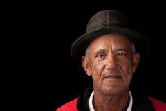 Oude mens met hoed Royalty-vrije Stock Afbeeldingen