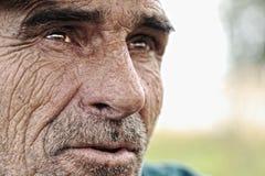 Oude mens met snorren Royalty-vrije Stock Foto