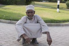 Oude mens in Sohar, Oman Stock Afbeelding