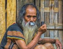 oude mens Taynguyen Royalty-vrije Stock Foto's