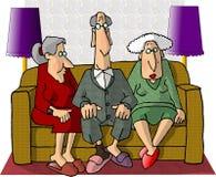 Oude Mensen vector illustratie