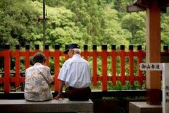 Oude mensen Stock Foto
