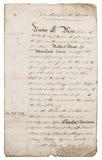 Oude met de hand geschreven brief manuscript Document achtergrond met randen Royalty-vrije Stock Fotografie