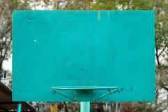 Oude metaal geschilderde basketbalrugplank. Royalty-vrije Stock Foto's