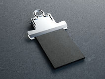Oude metaalklem met stapel adreskaartjes het 3d teruggeven Royalty-vrije Stock Foto