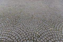 Oude metselwerkweg stock foto