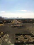 Oude Mexicaanse plaats van Teotihuacan Stock Afbeelding