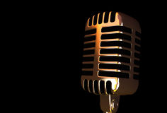 Oude Microfoon Stock Afbeelding