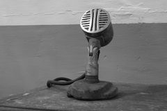 Oude microfoon Royalty-vrije Stock Foto