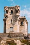 Oude middeleeuwse Kasteeltoren in Tarifa, Andalusia royalty-vrije stock foto