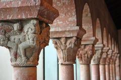 Oude middeleeuwse kolommen Royalty-vrije Stock Afbeelding
