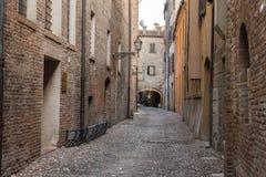 Oude middeleeuwse stad Stock Foto's