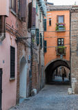 Oude middeleeuwse stad Royalty-vrije Stock Fotografie